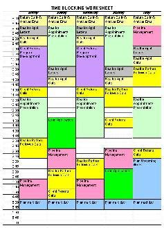 time blocking template calendar simplified organized styled