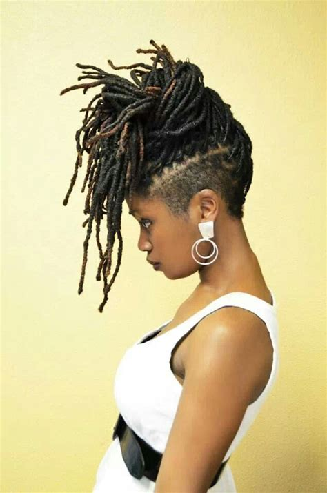 women with tapered dreadlocks locs with shaved sides tapered naturals pinterest