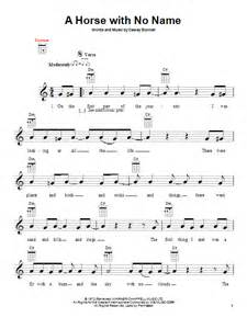 a horse with no name sheet music direct