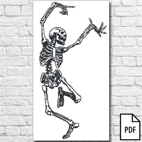 Skeleton Pattern In Casting Pdf | dancing skeleton cross stitch pattern pdf file from