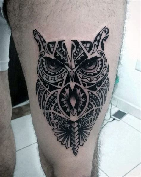 tribal owl tattoo 50 tribal owl designs for masculine ink ideas