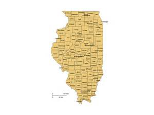 illinois counties major cities powerpoint map maps for