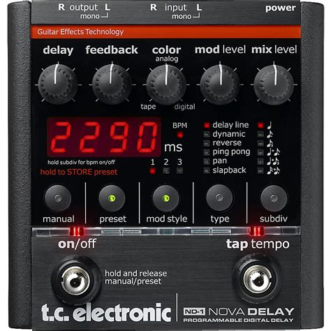 Tc Electronic Delay tc electronic nd 1 delay guitar effects pedal