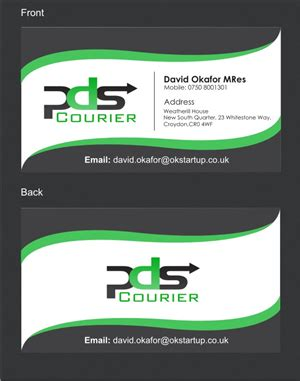 courier business card templates 117 masculine serious business card designs for a business