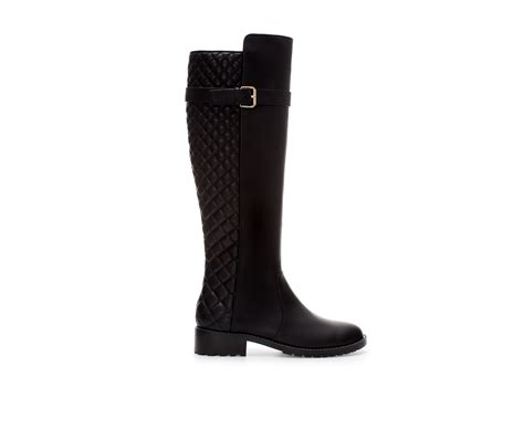 zara quilted boot in black lyst