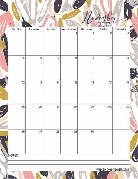 printable calendar nov 17 free printable 2017 monthly calendars what mommy does