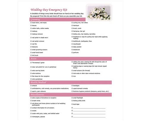 wedding day checklist template wedding day checklist wedding day checklist template