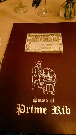 house of prime rib menu picture of house of prime rib