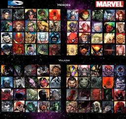 Marvel List Ultimate Fight Dc Vs Marvel Heroes Vs Villains By