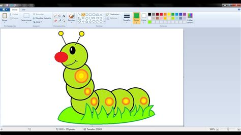 imagenes de navidad para dibujar en paint dibujos para ni 241 os c 243 mo dibujar una oruga con paint youtube