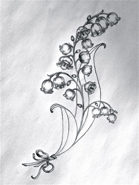 lydia s tattoo sketch lilies of the valley
