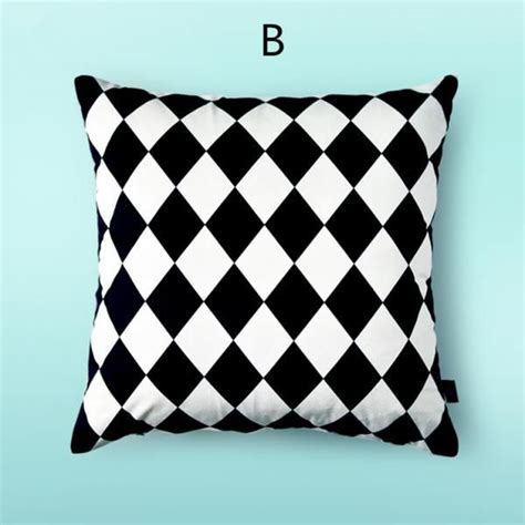 black patterned cushions black and white decorative pillows dot geometric sofa