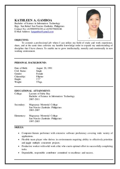 Show Me How To Write A Simple Resume