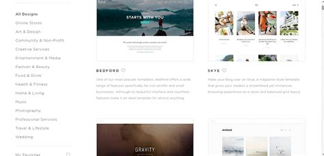 squarespace one page template images templates design ideas