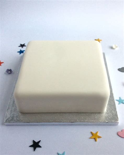 How To Decorate Cake At Home by Standard Undecorated Square Cake Karen S Cakes