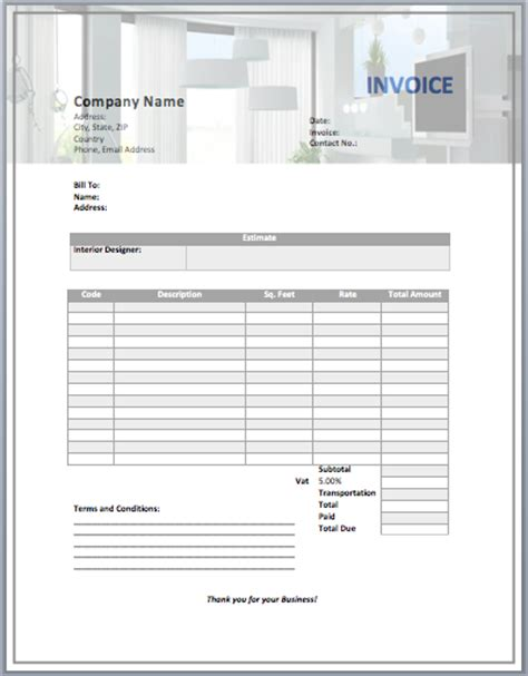 design invoice template interior design invoice template studio design