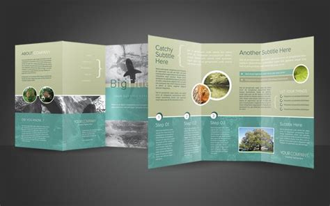 photoshop template brochure trifold brochure psd template psdbucket