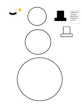 printable preschool snowman template preschool snowman template and lesson winter by carol