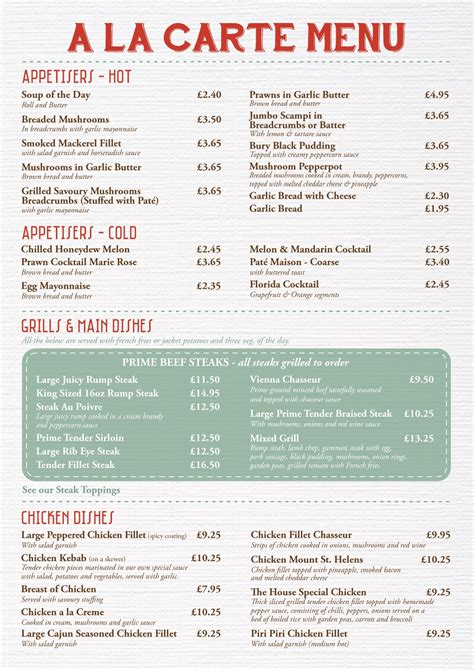 a la carte menu template a la carte menu sle pictures to pin on
