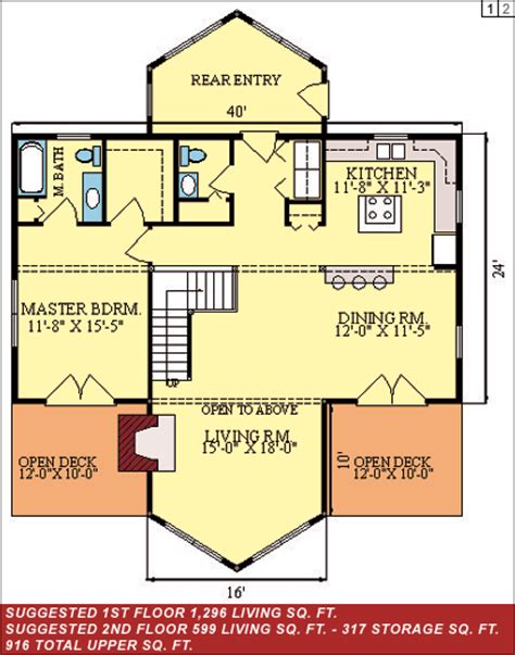 20x40 lake cottage floor plans studio design gallery