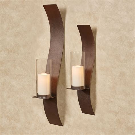 wall sconces sinuous rich bronze wall sconce set by jasonw studios