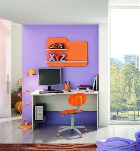 mensole arancioni scrivanie per camerette foto design mag