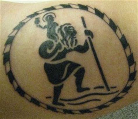 saint christopher tattoo christopher