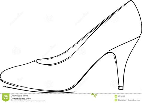 the gallery for gt shoes heels drawing