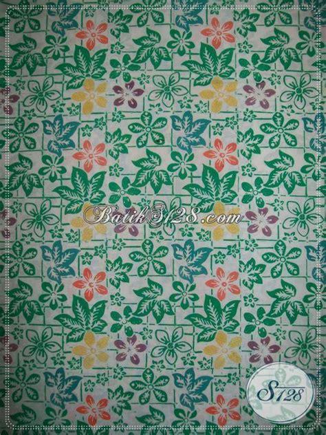 Batik Cap Asli kain batik cap bledak motif floral warna hijau butik bahan