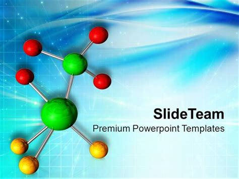 ppt themes science elements of molecule in science powerpoint templates ppt