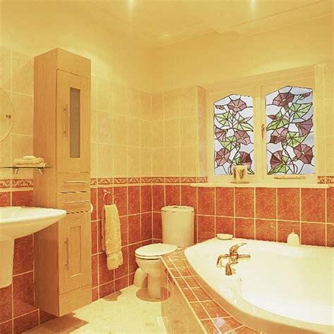 small bright bathroom ideas small bathroom with bright colours and corner bath