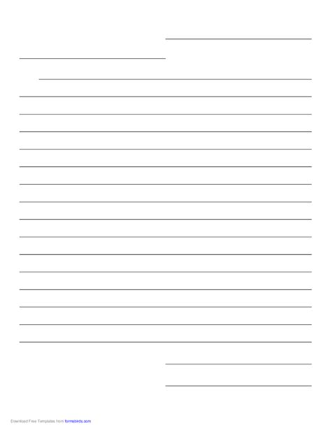 Friendly Letter Paper Template Free Download Letter Template Lined