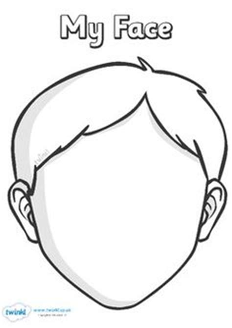 kindergarten activities my face blank faces templates free printables children can draw