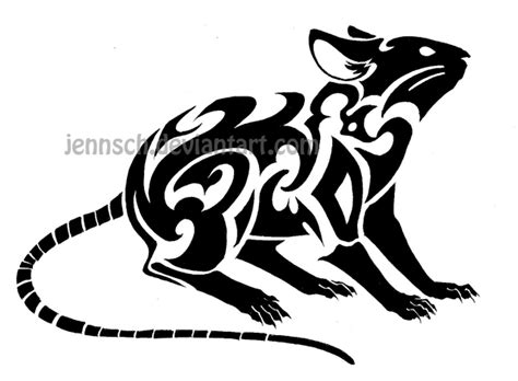 year of the rat tattoo designs zodiac rat by jennsch on deviantart