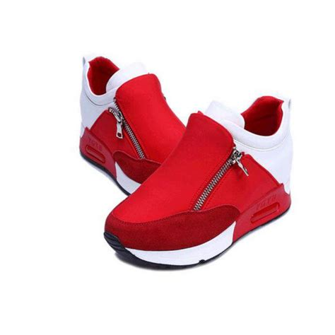 2016 zipper high top shoes walking shoes for