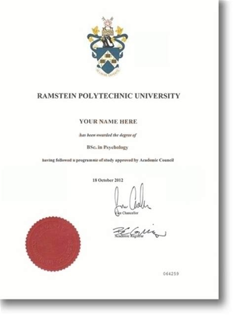 hnd certificate template degree
