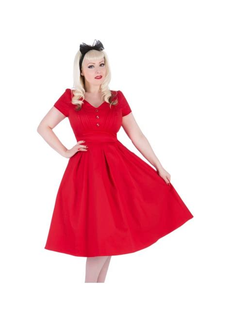 red swing dress uk h r london red button swing dress attitude clothing