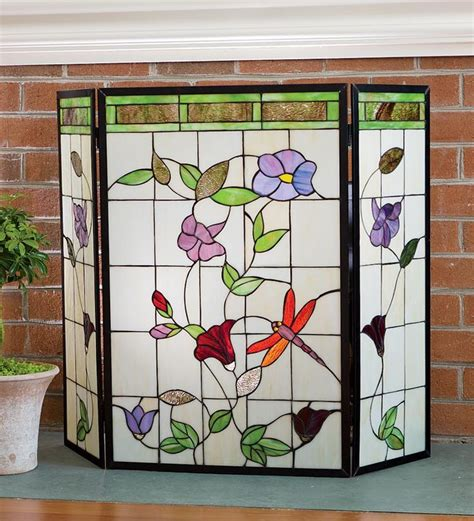 Glass Fireplace Covers by 31 Best Images About Stain Glass Place Covers On