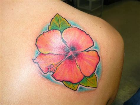 tropical tattoos hawaiian flower tattoos