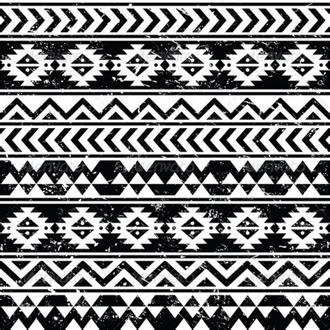 easy tribal pattern black and white aztec tribal seamless grunge pattern graphicriver
