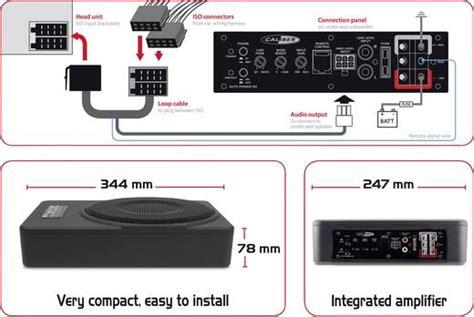Auto Subwoofer Aktiv 600 W Raveland Flatsub Fs8 Einbau by Auto Subwoofer Aktiv 800 W Caliber Audio Technology Bc110usp