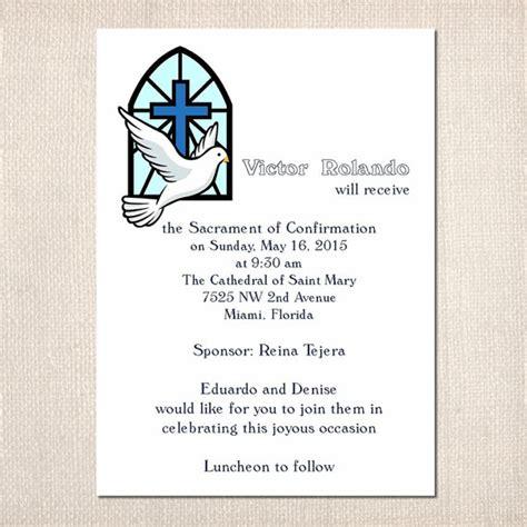 imagenes de invitaciones catolicas art 237 culos similares a confirmaci 243 n invitaciones religiosas