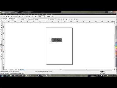 cara membuat ktp menggunakan corel draw cara membuat logo global tv menggunakan corel draw youtube