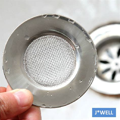 Kitchen Sink Drain Catcher New Handle Mesh Stainless Steel Kitchen Bathroom Sink Strainer Waste Drain Garbage Stopper