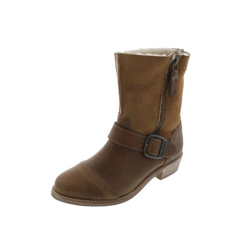 motorcycle boots shoes koolaburra 5563 womens duarte leather suede buckle
