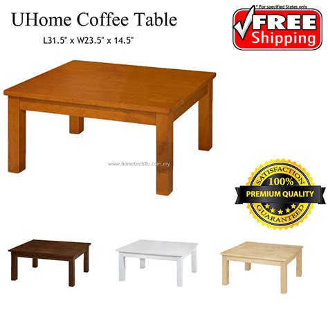 Square Living Room Tables Uhome Simple Wooden Square Living Room Coffee Table 11street Malaysia Tables