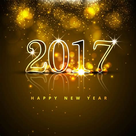 luxurious new year background with bright numbers vector