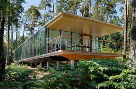 glass box house see though glass box house has best views of the forest