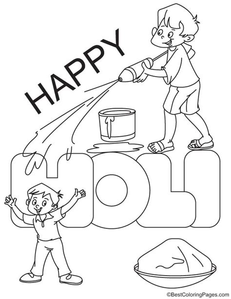 Happy Holi Coloring Page Download Free Happy Holi Holi Colouring Pages