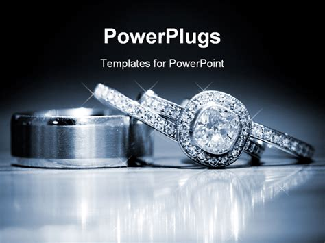 powerpoint templates jewellery wedding rings stacked on a reflective surface powerpoint